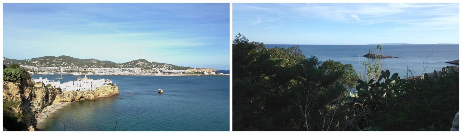 The view from Ibiza town onto the sea