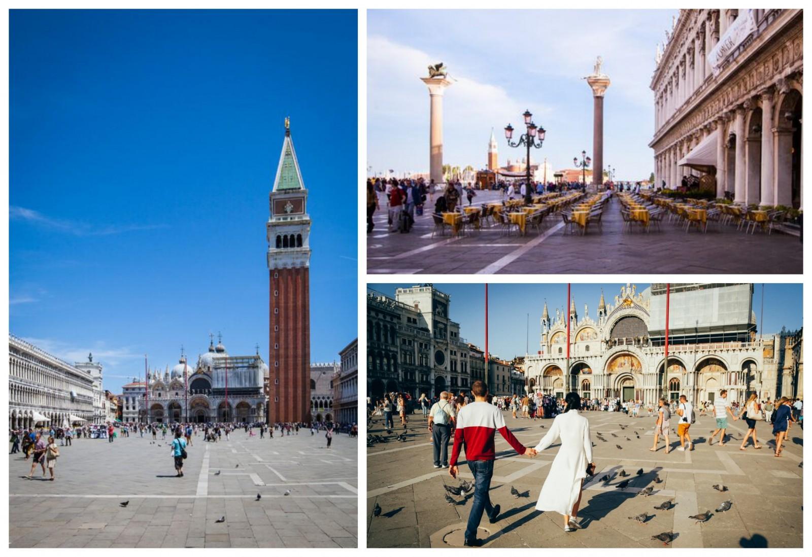 San Marco Square Venice in Veneto Basilica