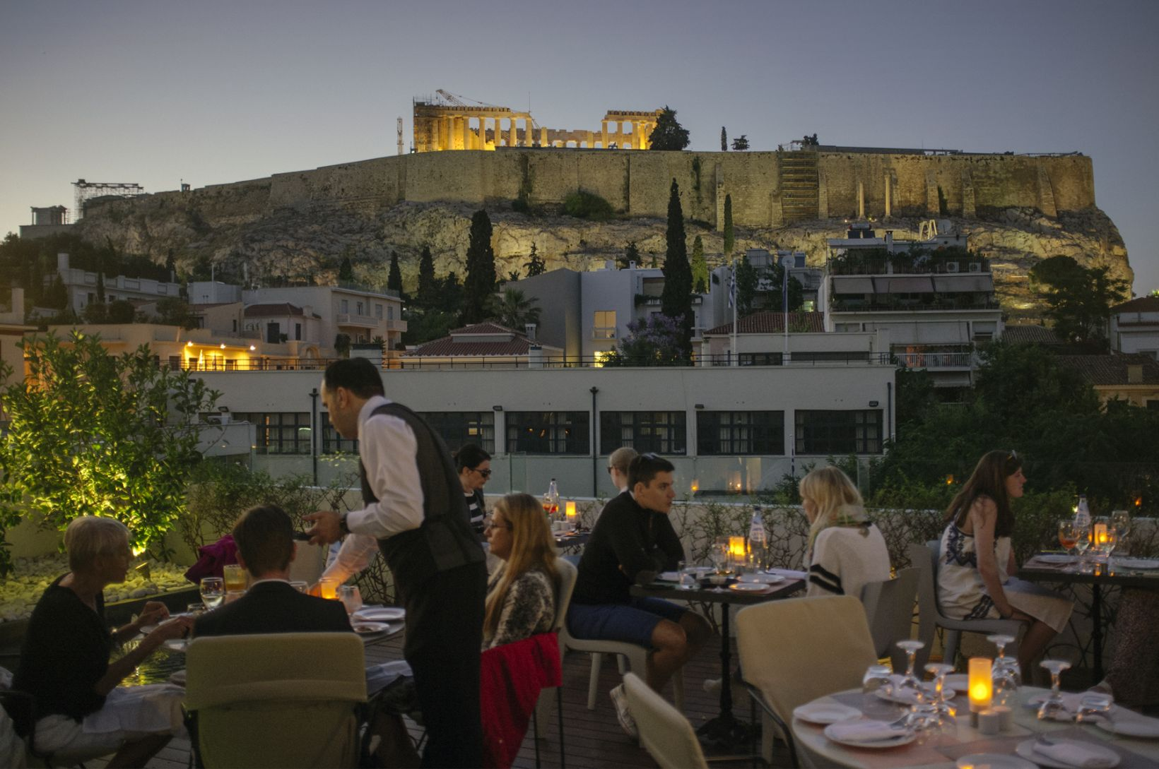 Herodion Hotel Athens Boutique Hotel Acropolis Restaurant View
