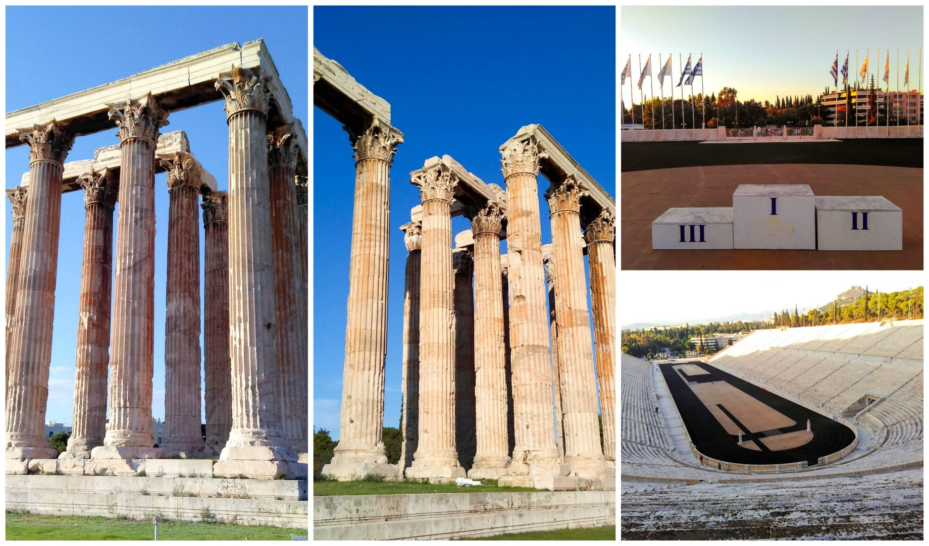 Greek Monuments near Hotel Athens